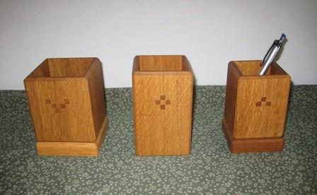木のペン立て 3種