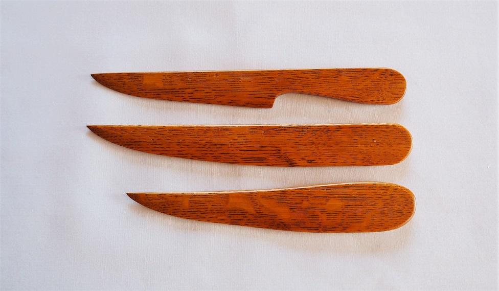 ナラ材のペーパーナイフ 3デザイン
