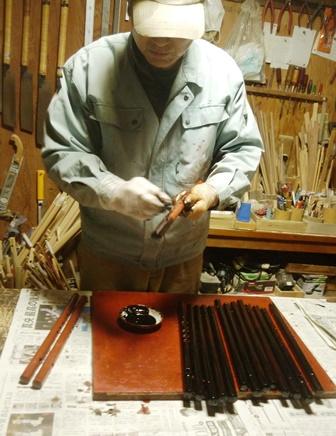 オリジナル横笛祭り笛C管 黒呂漆塗り