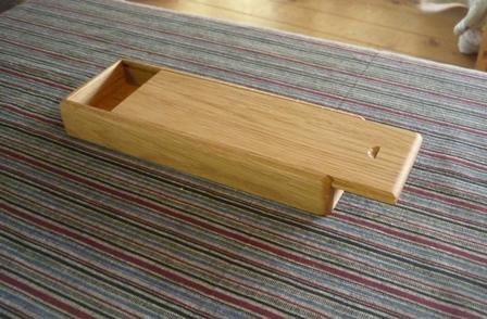 木の筆箱 ナラ材