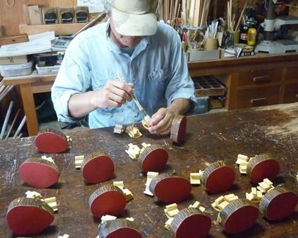 干支午 馬の箸置きORパズル オイル塗り