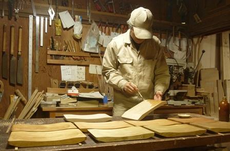 木のパン皿 オイル塗り