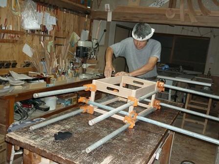 木製ランドリーボックス本組