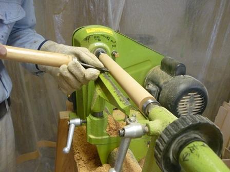 木のオカリナ製作中 ~ケヤキ材のターニング~