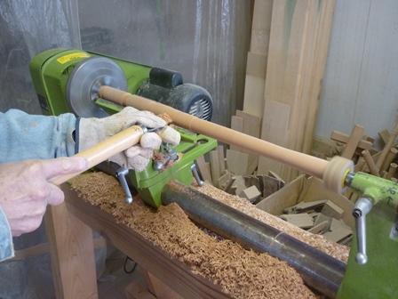 オリジナル横笛(木製管)外形仕上げターニング(F管G管)
