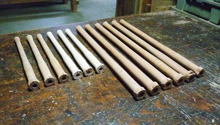 ウッドホイッスル製作中  Wooden Whistle In production ~外形ターニング~