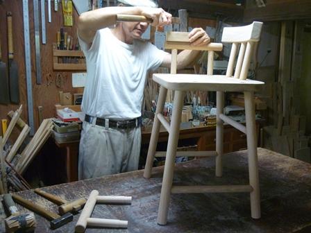 孫の食卓椅子 組立