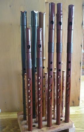 オリジナル七孔横笛 D管・B♭管 特別注文 製作中3 最終漆塗り仕上げ