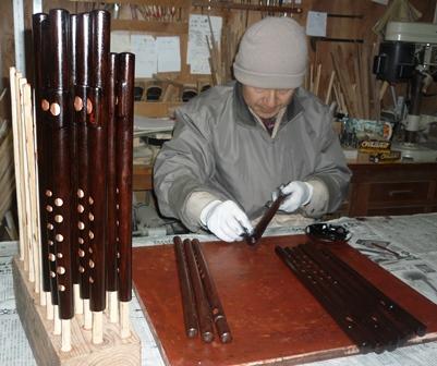 オリジナル横笛B♭管,D管(high)特注D管(high)製作中3