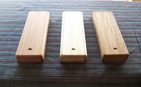 木の筆箱 3種 ヨーロッパビーチ セン ナラ