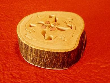 干支申 箸置きorパズル みかんの木のクラフトシリーズ