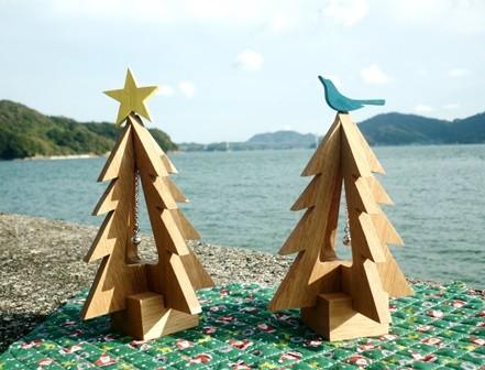 クリスマスツリー 幸せの青い鳥