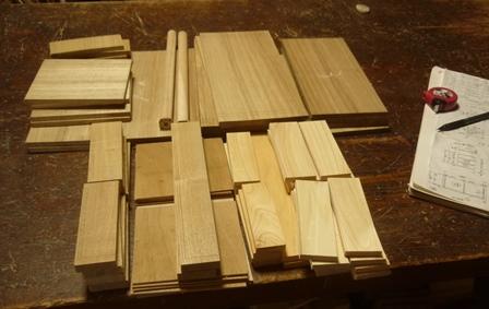 アクセサリーボックス 木取りと墨付けが完了