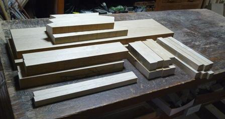 座敷椅子 木作り2脚分