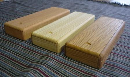 木の筆箱3種