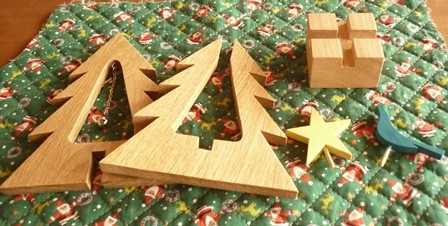 クリスマスツリー組み立て式 幸せの青い鳥