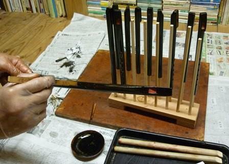 竹製ホイッスル黒呂漆塗り