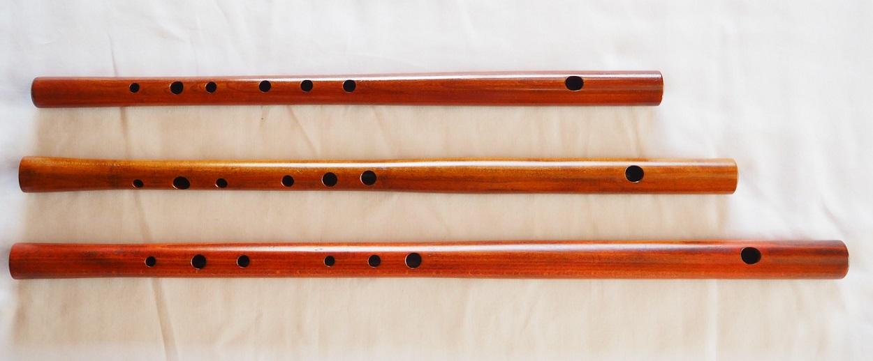 オリジナル横笛(木製)G・F管 オリジナル横笛(木製) G・F管  Original Wood Flute