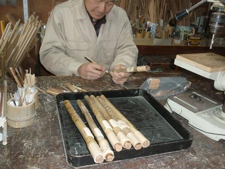 オリジナル横笛 D管(特注品)製作中