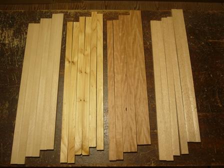 木製インディアンフルート 木取り