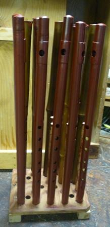 オリジナル横笛G管 朱漆塗り