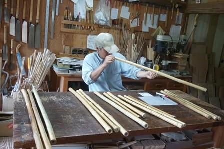 オリジナル尺八製作 竹材選定