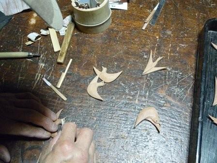 鳥の眼はコクタンの木象嵌
