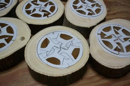 干支午 馬の箸置きorパズル みかんの木のクラフト