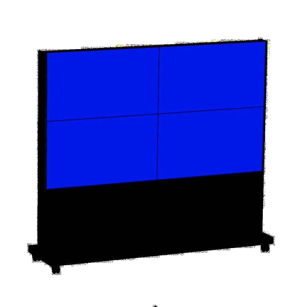 """Mobile Monitorwand - AVENTURIN  2x2  49"""" Zoll Monitore"""