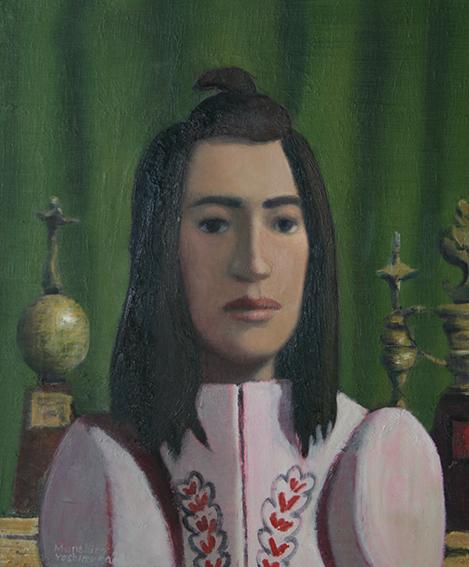 ダイエットスーツの女/oil on canvas 455×380