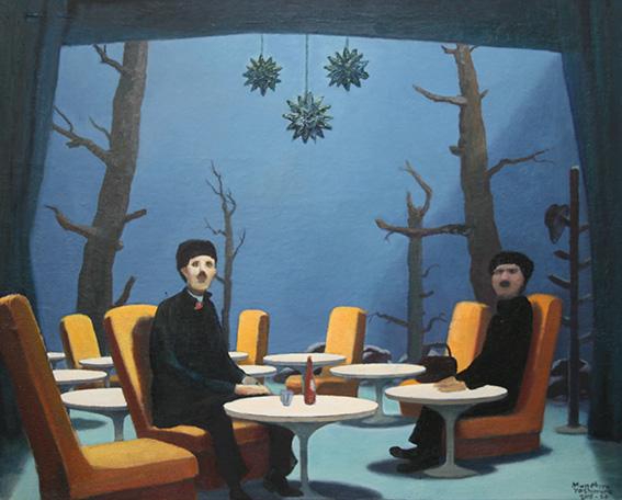 ラウンジ深海/oil on canvas 727x910