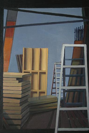 工事現場/oil on canvas 910x606