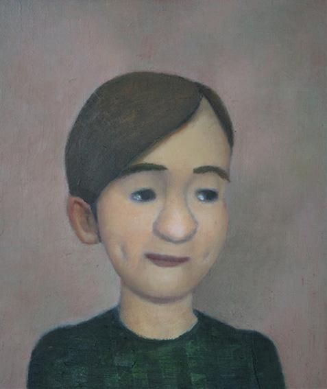 えくぼの少女/oil on canvas 350×270