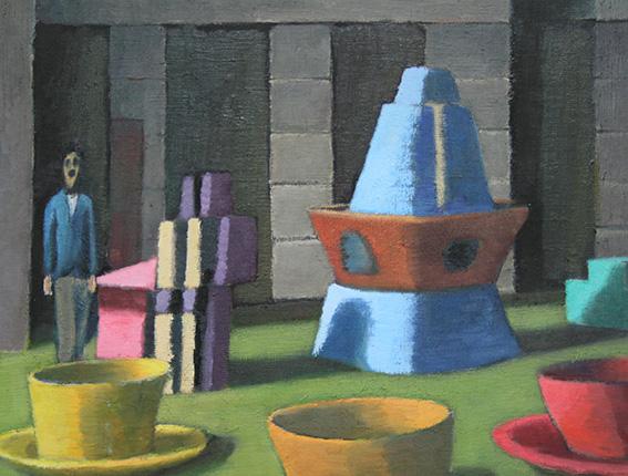 パロマー氏の遊園地/oil on canvas 318×410