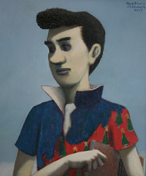 リーゼントの男/oil on canvas 455×380