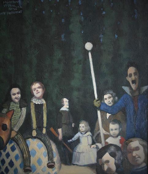 パロマー氏ベラスケスの国へ行く/oil on canvas 410×318