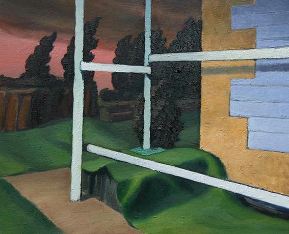 足場/oil on canvas 380×455