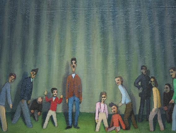 パルマー氏に集まる人/oil on canvas 318×410