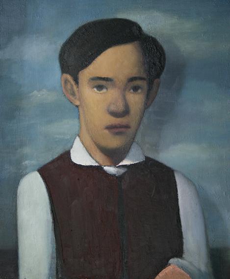 チョッキの青年/oil on canvas 455×380