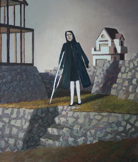 不動産屋の女/oil on canvas 727x606