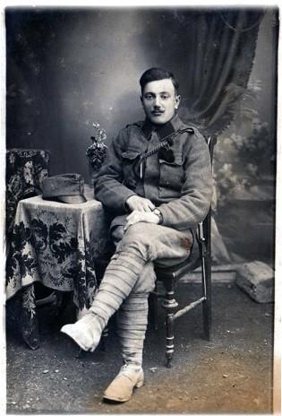Foto di un italiano in divisa da Kaiserjager