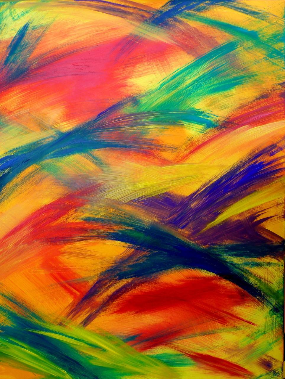 Die Explosion des Regenbogens (Acrylfarbe auf Leinwand  60x80cm)