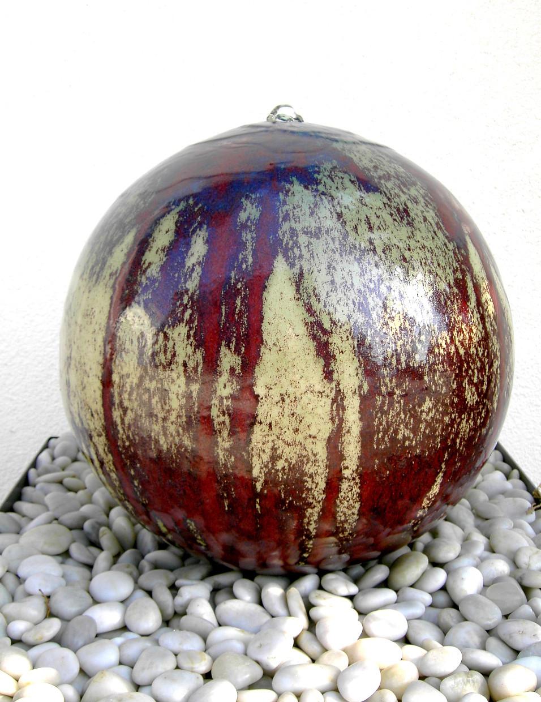 Brunnen kugeln seebach keramik for Gartenbrunnen kugel