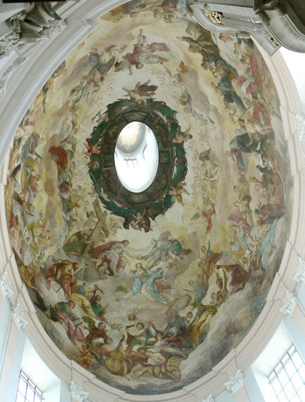 Dome fresco in Salzburg Austria