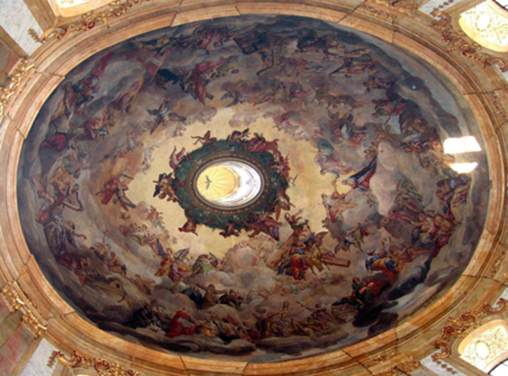 L'affresco della cupola di Peterskirche