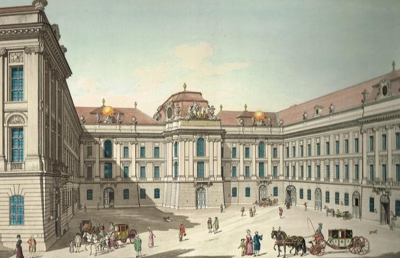 Josefsplatz Wien in 19 Jahrhundert