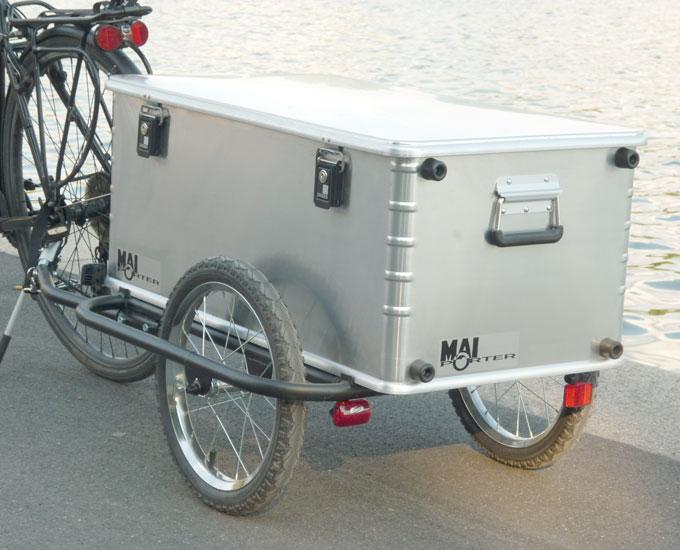Der erste Prototyp des Fahrradanhänges Maiporter Z130