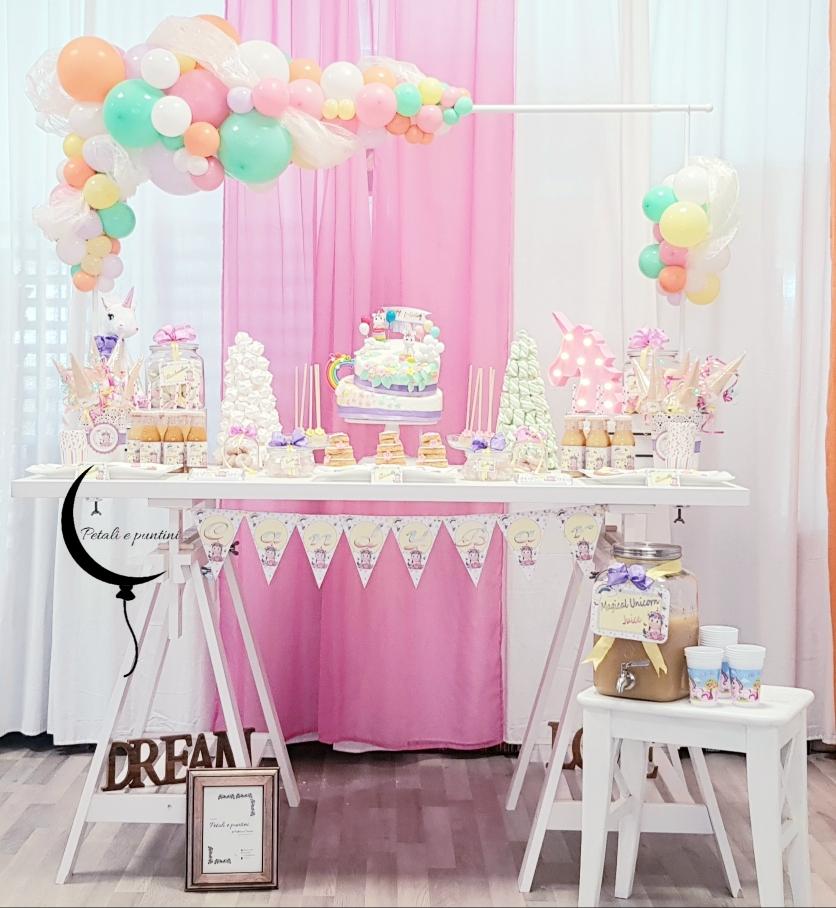 Sweet table Sognando gli unicorni