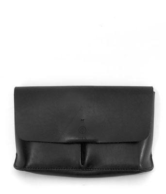 Clutch schwarz Leder