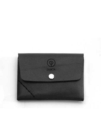 Leder Geldbeutel, kleines Portemonnaie schwarz